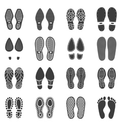 Shoes Footprint Icons vector image