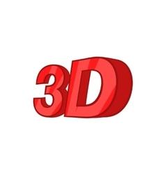 Sign 3d icon cartoon style vector