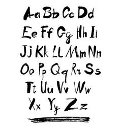alphabet letters lowercase vector image