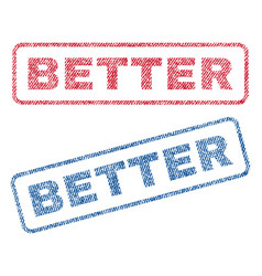 Better textile stamps vector