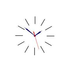 Clock sign without body for use as icon placed on vector