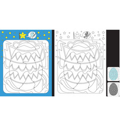 Color by dot worksheet vector
