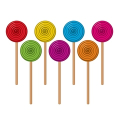 colorful lollipop candies vector image