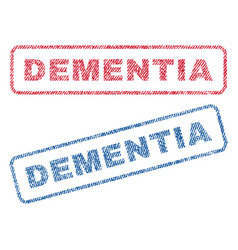 dementia textile stamps vector image