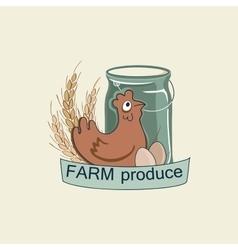 Farm logo and emblem vector image vector image