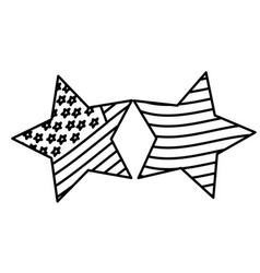 Figure stars with stars and stripes icon vector