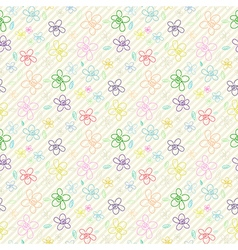 Flower Pattern Color 04 vector image