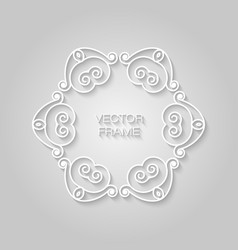 frame in trendy outline style relief effect vector image