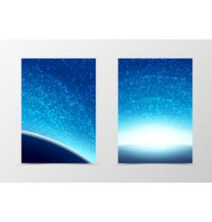 Front and back cosmos flyer template design vector