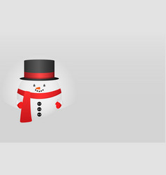 horizontal greeting card with christmas snowman vector image