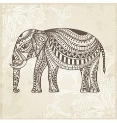 Indian Hand Drawn Elephant Arabic and Jewish vector image