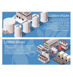 Isometric factory banners vector