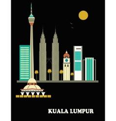 Kuala lumpur city vector