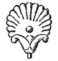 Lotus-palmette design in a gold jewel vintage vector
