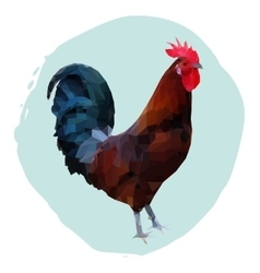 Polygonal of rooster vector