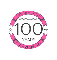 Realistic hundred years anniversary celebration vector