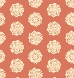 Seamless retro flower pattern vector