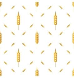 Seamless wheat pattern set of ears vector