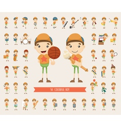 Set of boy character collection vector image