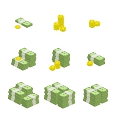 set of icons money vector image vector image