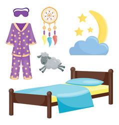 Sleep icons set collection nap vector