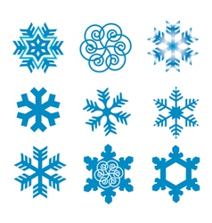 Snow flakes vector