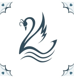 Stylized swan vector image vector image