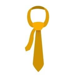 Tie in yellow color with knot vector