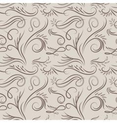 Vintage latte pattern vector image vector image