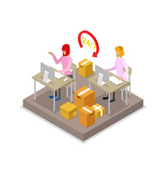 Warehouse logistics isometric 3d icon vector