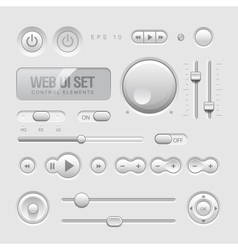 Web UI Elements vector image