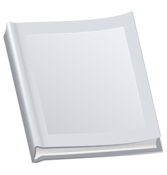 White closed book in paperback vector