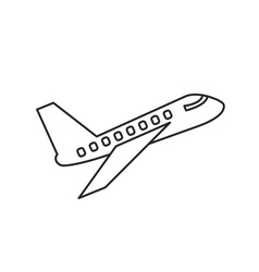 Plane icon outline contour vector