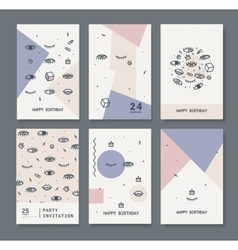 Set of cards for the holiday vector