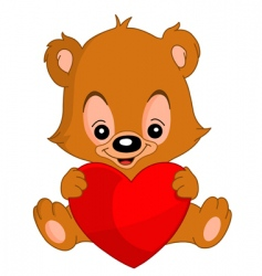 valentine teddy bear vector image