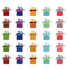 Set of bright gifts vector