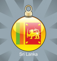 sri Lankan flag on bulb vector image