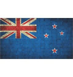 Abstract mosaic flag of new zealand vector