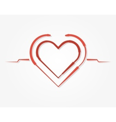 Red heart symbol icon vector