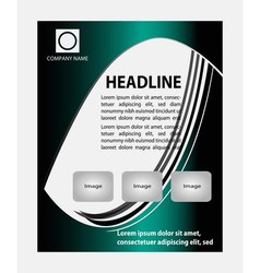 Flyer magazine cover poster template vector