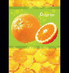 Fresh orange menu vector