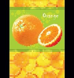 fresh orange menu vector image