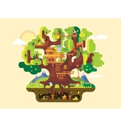 Fabulous tree house vector