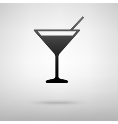 Coctail black icon vector