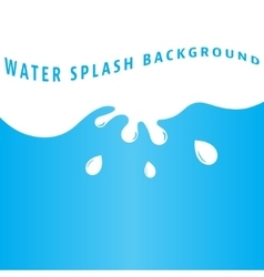 Water splash background vector