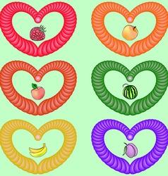 Fruit heart vector