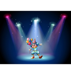 A clown at the center of the stage vector