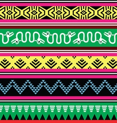 Aztec tribal seamless pattern with monsters vector image