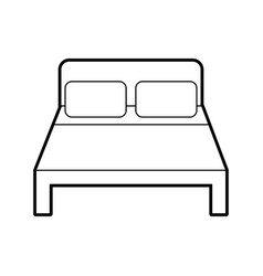 Bed hotel isolated icon vector