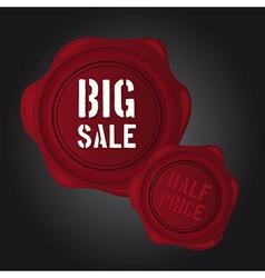 Big sale wax seal vector